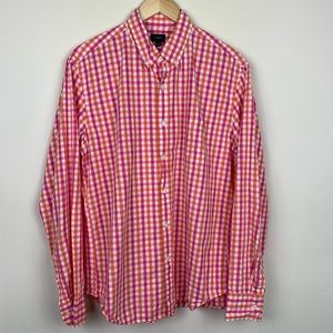 J Crew Factory Checkered Button Down